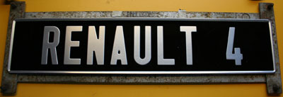 finished french license plate